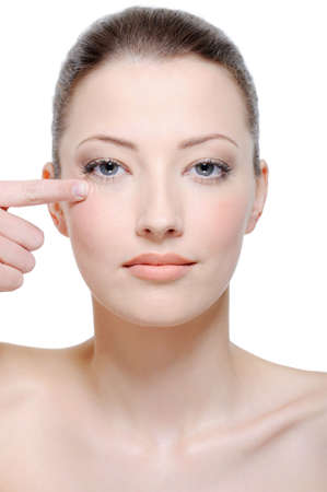beautiful clean face of young woman without any wrinkles Stock Photo - 4863834
