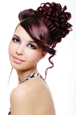 portrait of young beautiful pretty girl with creative hairstyle Stock Photo - 4871291