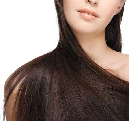 lussureggiante: femmina spalla con bei capelli lunghi Archivio Fotografico