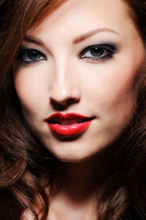 Beautiful close-up portrait of caucasian woman with perfect skin Stock Photo - 5494844