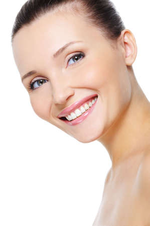 Portrait of a beautiful happy female with healthy white smile Stock Photo - 5769530