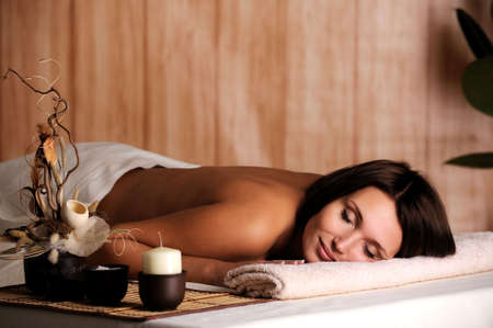 Young beautiful woman get relax in the spa salon Stock Photo - 5830716