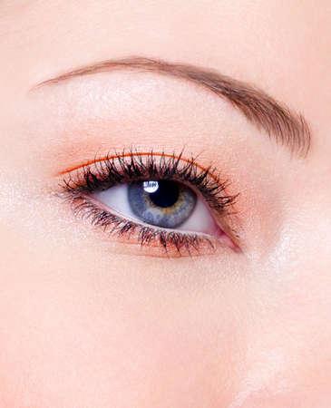 Modern fashion makeup of a female eye - macro shot Stock Photo - 6101740