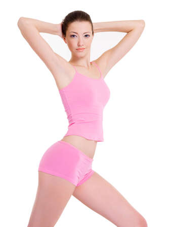 Full-length portrait of a woman with perfect slim beautiful  body Stock Photo - 6101873