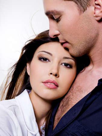 Portrait of beautiful sexual couple posing at studio Stock Photo - 6134369