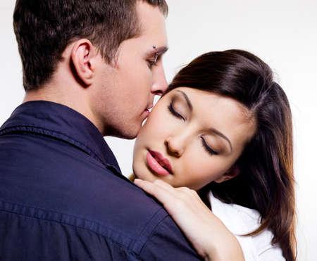 Portrait of beautiful sexual couple posing at studio Stock Photo - 6134365