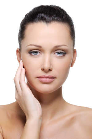 Portrait of beautiful  woman with healthy and fresh pure skin on her face Stock Photo - 6544827