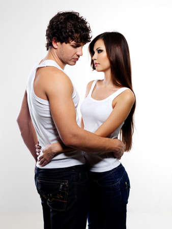 The portrait of two beautiful lovers between which has occurred rupture in relations Stock Photo - 6657095