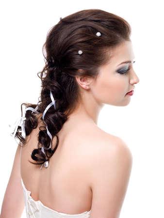 hochzeitsfrisur: Sch�ne Hochzeit Frisur f�r junge ziemlich gleichaltrige Braut   Lizenzfreie Bilder