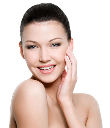 Beautiful young smiling woman with healthy skin Stock Photo - 6808893