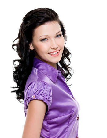 Happy young beautiful woman with attractive smile Stock Photo - 6808924