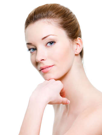 Portrait of young beautiful woman with healthy skin Stock Photo - 6808896