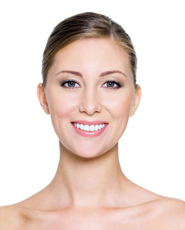 Smiling face of a beautiful woman with health whitest teeth Stock Photo - 7817284