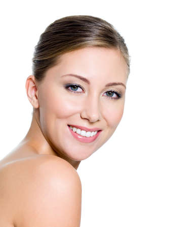 Smiling face of a attractive woman with health whitest teeth