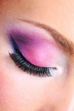 maquillage yeux: Yeux Maquillage avec saturetad vives couleurs - macro abattu