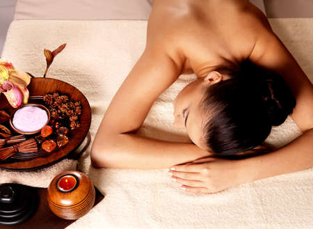 Recreation therapy for woman after massage in spa salon. Beauty treatment concept. Stock Photo - 16333987
