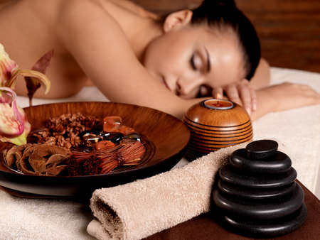 Young  woman relax in beauty spa salon. Healthy lifestyle Stock Photo - 16578464