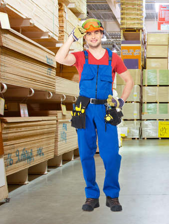 Portrait of the smiling  professional handyman at store Stock Photo - 20222825
