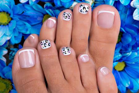Beautiful nail art Reklamní fotografie - 37224892