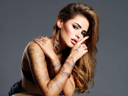 Adult girl tattoo