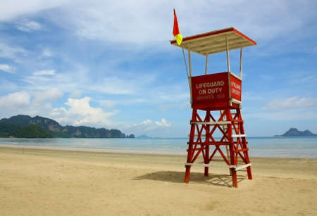 lifeguard tower: Observation tower Stock Photo
