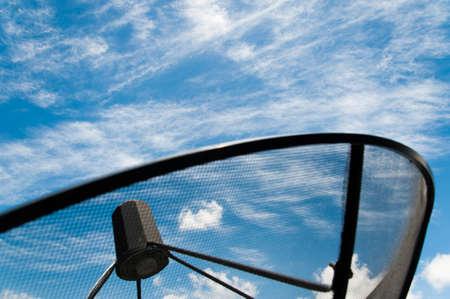 bandwidth: Satellite antennas under blue sky