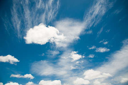 softness: White fluffy and softness of clouds in blue sky
