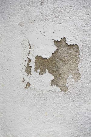 Gescheurd beton witte verticale muur achtergrond