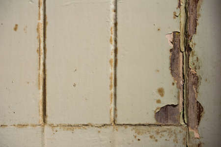 Vintage blue wood background texture with crack