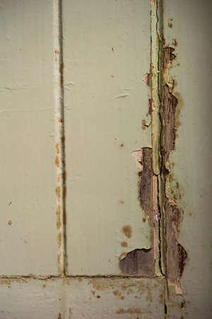 Uitstekende blauwe houten textuur met crack