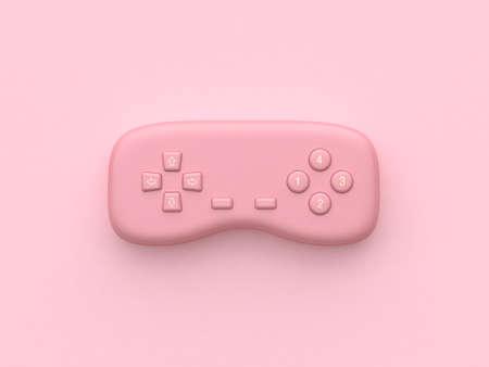 pink minimal abstract technology equipment video games joystick 3d rendering
