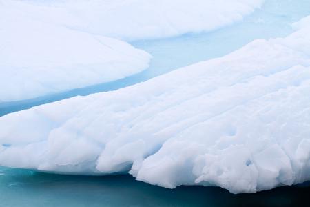 夏シーズン、南極半島、南極大陸の中に溶融氷のフィールド