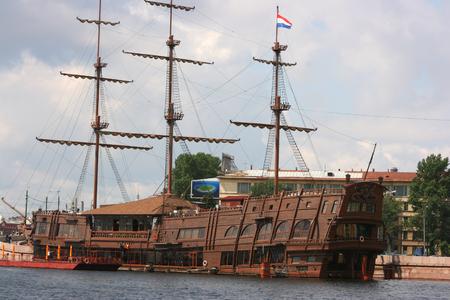 The beautiful, ancient, fighting ship of Russian flotilla photo