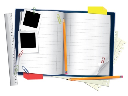 scheduler: Blue notepad Illustration