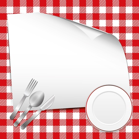 menu vintage: Red restaurant background with place for text