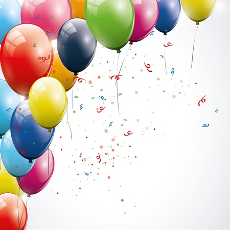 red balloons: Birthday background