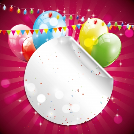 Birthday glossy background with place for your text Vector
