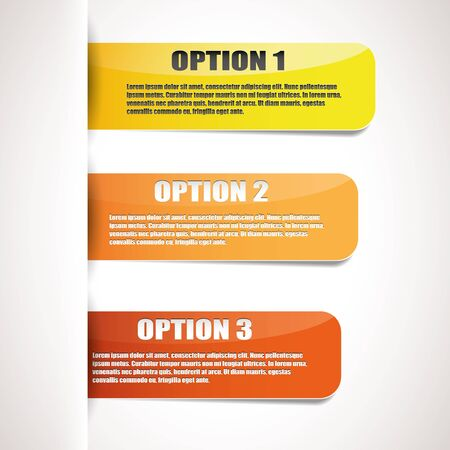 Set of three yellow paper options Stock Vector - 15614703