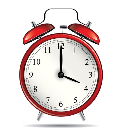 alarm: Red vintage alarm clock Illustration