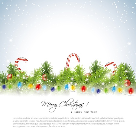 Christmas snowy background with place for text Stock Vector - 16464822