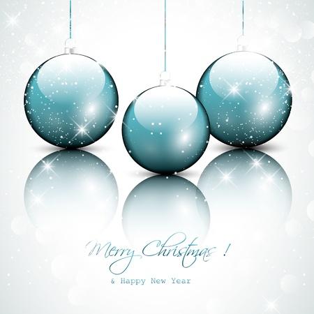 reflexe: Blue christmas boules