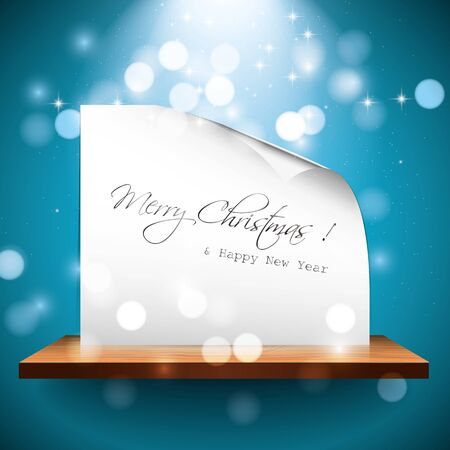Christmas card on the shelf Stock Vector - 16464820