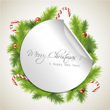 Christmas greeting card Stock Vector - 16464819