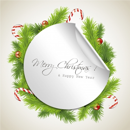 turn of the year: Christmas greeting card