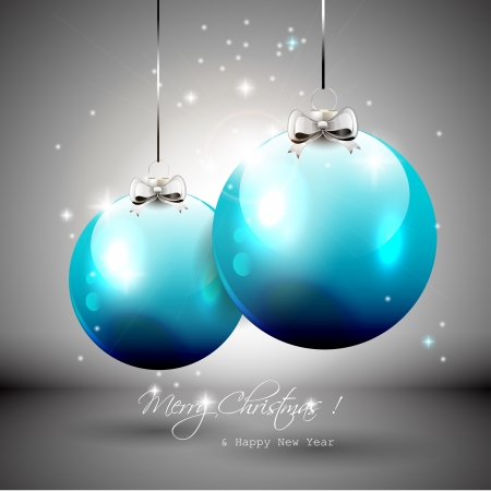 Luxury silver-blue Christmas background Stock Vector - 16464766