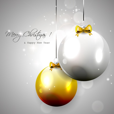 sylvester: Luxury silver-gold Christmas background Illustration