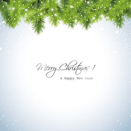 Christmas snowy background  Vector