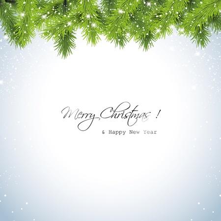 Christmas snowy background Stock Vector - 17506801