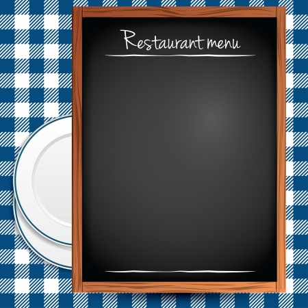 Empty blackboard - Restaurant menu background Stock Vector - 16464815