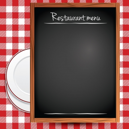 Empty blackboard - Restaurant menu background Vector